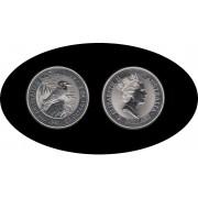 Australia Kookaburra 1992 2 onzas de plata 2$ 999 Ag