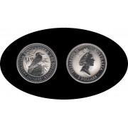 Australia Kookaburra 1993 2 onzas de plata 2$ 999 Ag