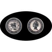 Australia Kookaburra 1994 2 onzas de plata 2$ 999 Ag