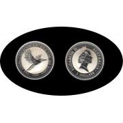 Australia Kookaburra 1996 2 onzas de plata 2$ 999 Ag