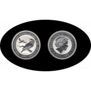 Australia Kookaburra 2004 2 onzas de plata 2$ 999 Ag