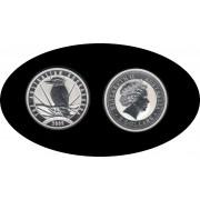 Australia Kookaburra 2009 2 onzas de plata 2$ 999 Ag