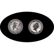 Australia Kookaburra 1993 1 onza de plata 1$ 999 Ag