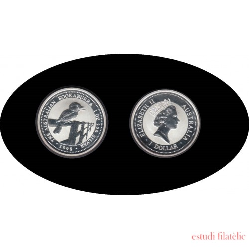 Australia Kookaburra 1998 1 onza de plata 1$ 999 Ag