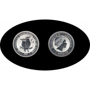 Australia Kookaburra 2001 1 onza de plata 1$ 999 Ag