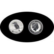 Australia Kookaburra 2007 1 onza de plata 1$ 999 Ag