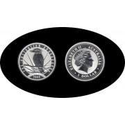 Australia Kookaburra 2009 1 onza de plata 1$ 999 Ag