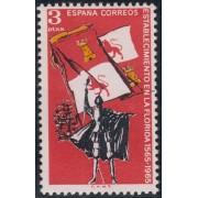 España Spain Emisión Conjunta  1965  España - EEUU  IV Cent.Fundación San Agustín. Florida MNH