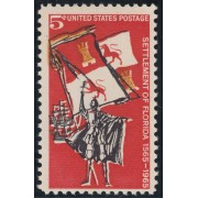 España Spain Emisión Conjunta 1965  EEUU - España   IV Cent.Fundación San Agustín