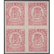 España Spain NE 29s Bl.4 1938 No Emitidos No expendidos Cifras MNH