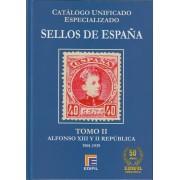 Catálogo España Edifil Especializado Tomo II Alfonso XIII República 1901 - 1939