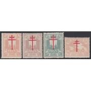 España Spain 957/60 1942 Pro Tuberculosos MNH