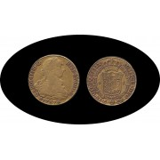 España Spain 8 Escudos 1787 S Carol Carlos III Sevilla  CM Oro Au
