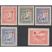 España Spain 984/88 1944 Pro Tuberculosos MNH