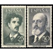 España Spain 1164/65 1955/1956 Fortuny Torres Quevedo MNH