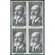 AJZ2 España Spain 1165 Bl. 4 (1164/65) 1955/56 Fortuny y Torres Quevedo MNH