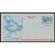 España Aerograma  202  Variedad 1981 Sin Color Amarillo en Bandera Raid