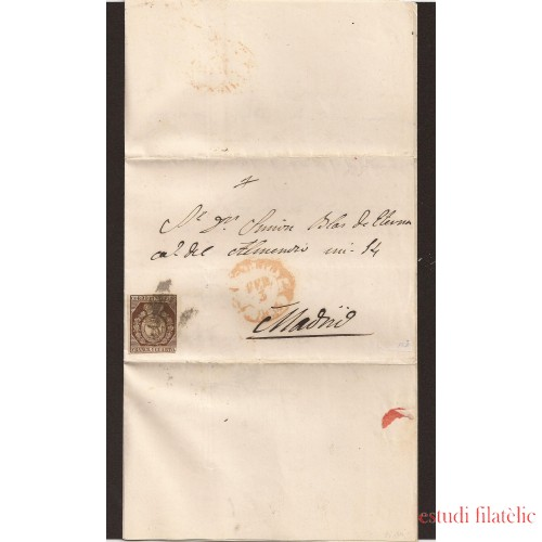 España Carta Nº 22 1854 Madrid Correo Interior