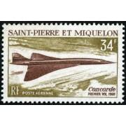 TRA2 San Pedro y Miguelón  St. Pierre et Miquelon Nº A 43  1969  MNH