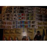 Colección Collection Guinea Ecuatorial 1981-1990 Bl.4 Completa