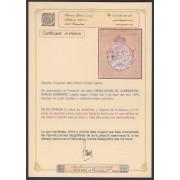 España Spain Variedad 1875 Proyecto Sello Devolución Pieza única Certf. Graus