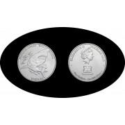 Monedas de Plata  Tokealu  5$  1 oz  Tiburón  Plata Proof