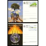 España Spain Entero Postal ( tarjeta ) 180/81 2009 Valores Cívicos Cambio climático