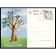 España Spain Entero Postal ( tarjeta ) 183 Valores Cívicos Reciclaje  Árbol tree