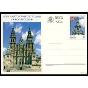 España  Spain Entero Postal ( tarjeta ) 184 2010 Año Santo Compostelano Xacobeo