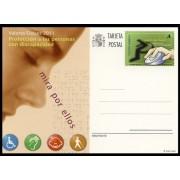 España Spain Entero Postal ( tarjeta ) 186 2011 Valores Cívicos Discapacidad