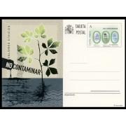 España Spain Entero Postal 191 ( tarjeta ) 2012 Valores Cívicos No contaminar Flora