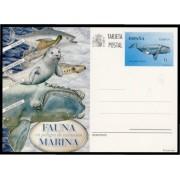 España Spain Entero Postal 193 ( tarjeta ) 2013 Fauna Marina peligro extinción Ballena vasca whale