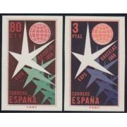 España Spain SH 1222/23 1958 Exposición Filatélica Nacional MH