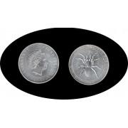 Australia  1$ 2015  1oz  Spider Araña  Plata Proof