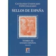 Catálogo Catalogue España Unificado Edifil Especializado Tomo III 1936 - 1975