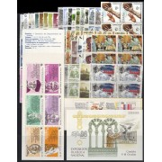 España Spain Año Completo Year Complete 1986 BL. 4 MNH