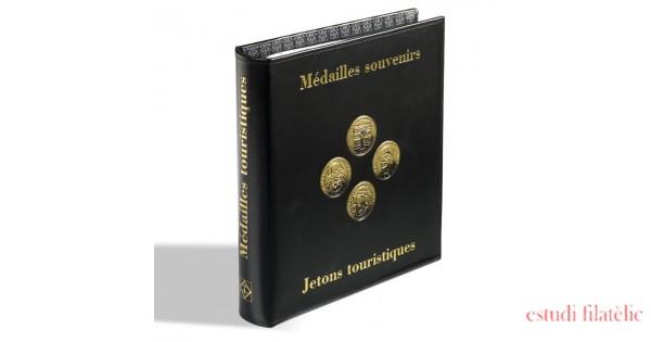 Leuchtturm 342176 /Álbum Optima para M/édailles Souvenirs francesas Sans 5 Hojas Optima