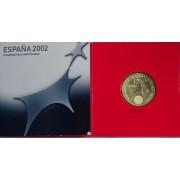España Spain  2002 Cartera Oficial Moneda 12€ Euros  Presidencia UE  Plata FNMT