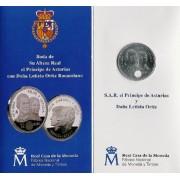 España Spain 2004 Cartera Oficial Moneda 12€ euros Boda Felipe y Leticia  Plata FNMT
