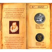 España Spain 2005 Cartera Oficial Moneda 12€ euros El Quijote Cervantes Plata FNMT