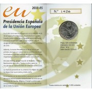 España Spain 2010 Cartera Oficial Moneda 12€ Presidencia UE Plata FNMT