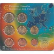España Spain 1999 Cartera Oficial Euros € FNMT