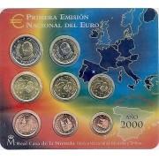 España Spain 2000 Cartera Oficial Euros € FNMT