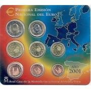 España Spain 2001 Cartera Oficial Euros € FNMT