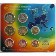 España Spain 2002 Cartera Oficial Euros € FNMT