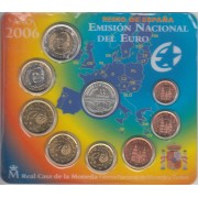 España Spain 2006 Cartera Oficial Euros € + medalla Plata Adhesión UE FNMT