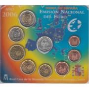 España Spain 2006 Cartera Oficial Euros € + medalla Plata Colon Columbus  UE FNMT