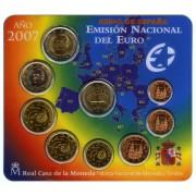 España Spain 2007 Cartera Oficial Euros € + moneda  2€ Tratado de Roma FNMT