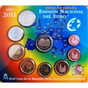 España Spain 2011 Cartera Oficial Euros € + moneda 2€ Alhambra Granada... FNMT