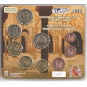 España Spain 2010 Cartera Oficial Euros + 2€ Conmemorativos Mezquita Córdoba  Emisión Berlín FNMT Word Money Fair